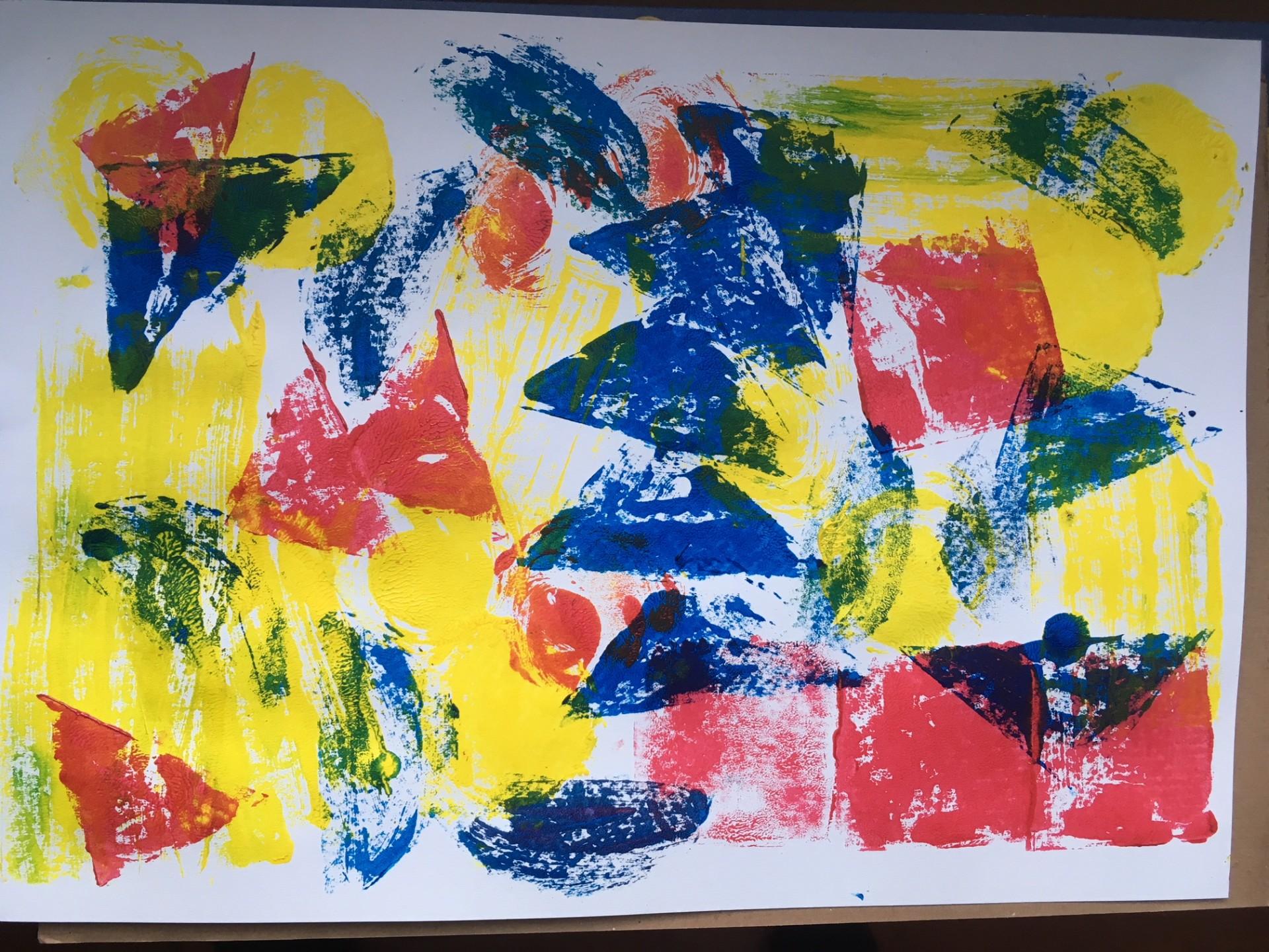 Saturday Art Club at Home | Week 10 | Printing with Card