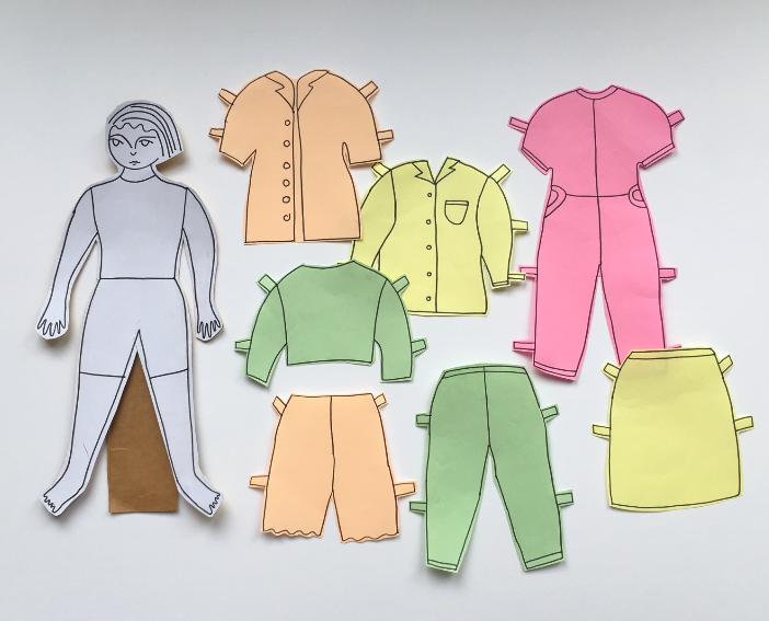 Saturday Art Club At Home | Week 1 | Paper Dolls