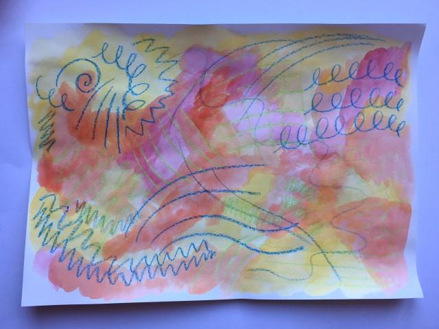 Saturday Art Club at Home | Week 9 | Wax and Watercolour