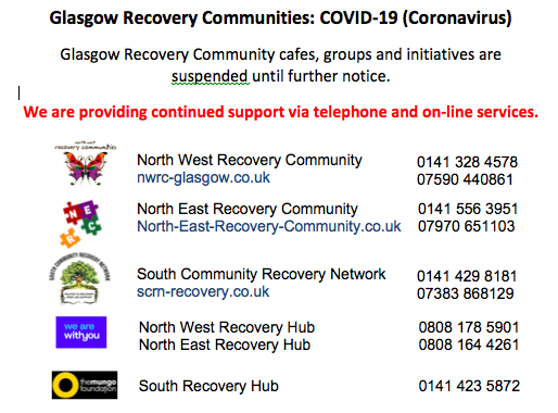 Glasgow Recovery Communities: Contact information